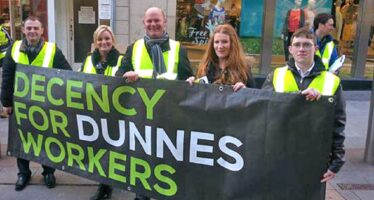 DUNNES' STAFF ON STRIKE SACKED