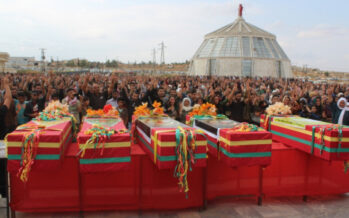Five SDF fighters laid to rest in Kobanê