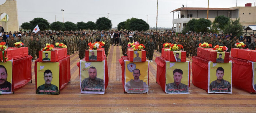 Ceremony in Hesekê to bid farewell to 8 SDF fighters