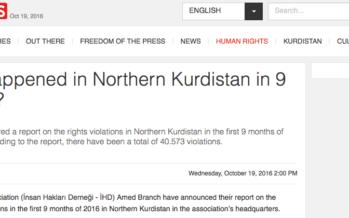 """""""In the first 9 months…"""" TERROR IN 'TURKISH' KURDISTAN"""