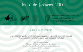Irlanda por primera vez en la Feria literaria cubana