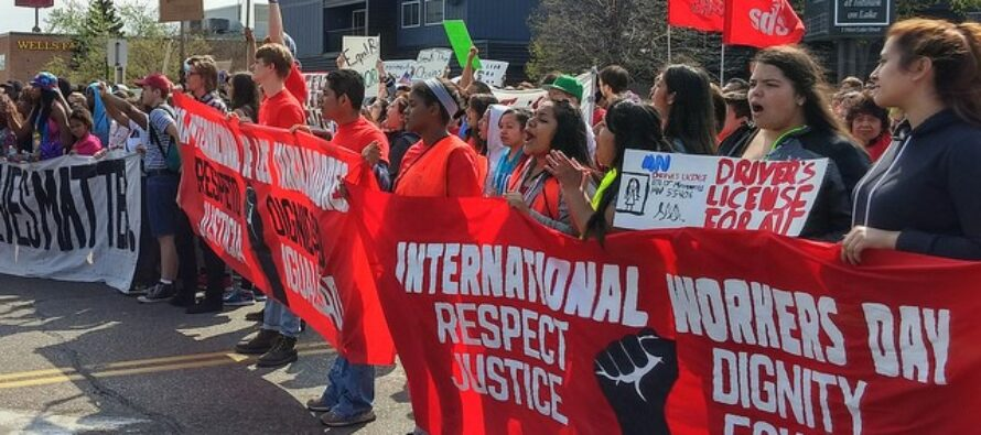 """MAY DAY USA. """"Teachers say education fight is a 'turning point'"""""""