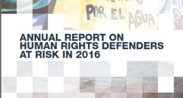FRONT LINE DEFENDERS. The Human Rights Defenders Report 2016