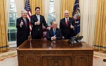 USA TAX CUTS:Bloated billionaires get a tax cut while millions go hungry